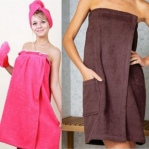 Полотенце на липучке очень удобное к использованию