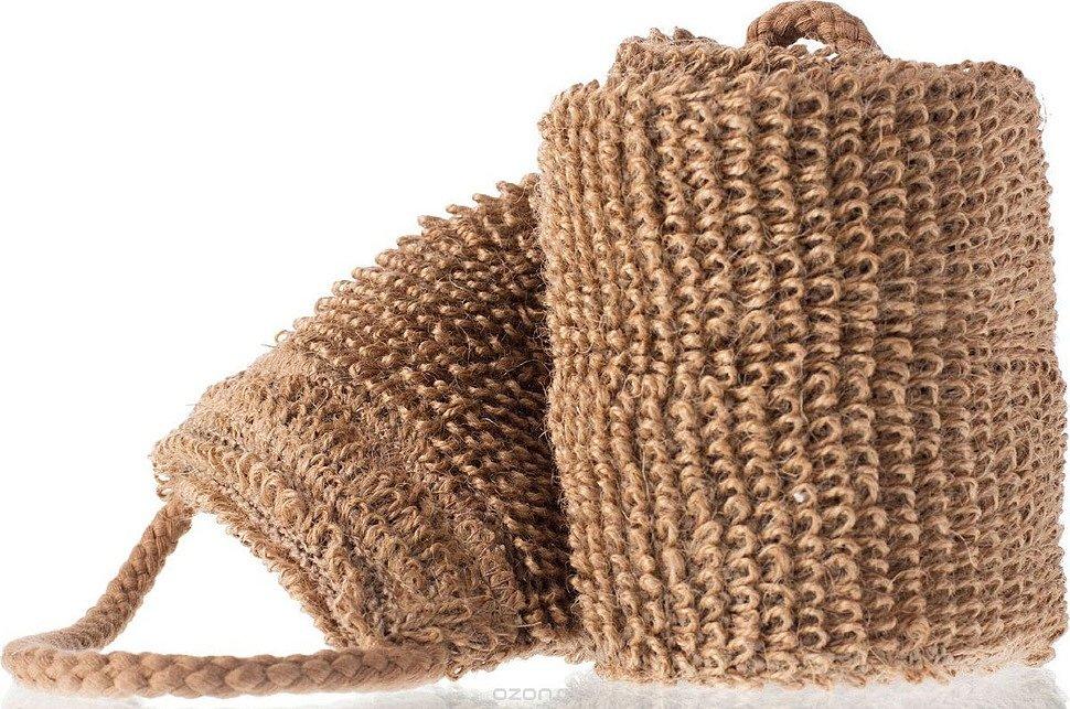 Мочалка из сизаля весьма долговечная, но очень грубая для тела.